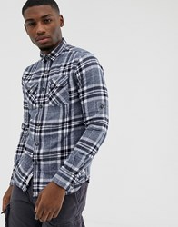 Superdry Checked Shirt Navy