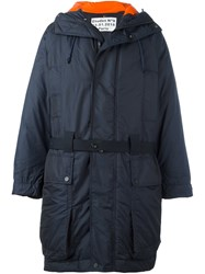 Etudes Hooded Parka Coat Blue