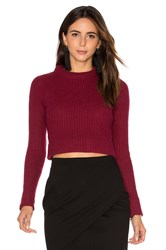 Autumn Cashmere Cropped Sweater Burgundy