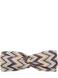 Missoni Printed Wave Knit Headband Multicolor