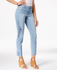 Styleandco. Style Co. Petite Embroidered Calabasas Wash Skinny Jeans Only At Macy's