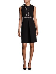 Dice Kayek Embellished Pleated A Line Dress Black