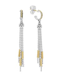 Lagos 18K Gold And Sterling Silver Micro Chain Dangle Earrings Silver Gold