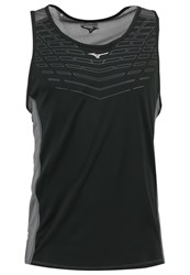 Mizuno Cooltouch Venture Sports Shirt Black Tornado