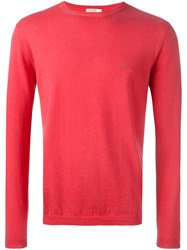 Sun 68 Crew Neck Jumper Pink Purple
