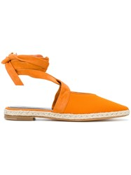 J.W.Anderson Jw Anderson Lace Up Espadrille Flats Yellow And Orange