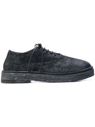 Marsell Chunky Sole Lace Up Shoes Men Leather Suede Rubber 44 Black