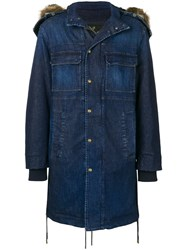 Mr And Mrs Italy Hooded Denim Parka Coat 60