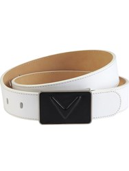 Callaway Debossed Leather Belt White