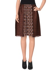 Kristina Ti Knee Length Skirts Brick Red