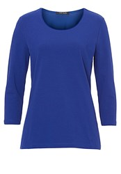 Betty Barclay Three Quarter Sleeved T Shirt Electric Blue
