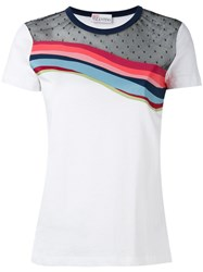 Red Valentino Contrast T Shirt White