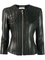 Versace Collection Stitched Panel Jacket Black