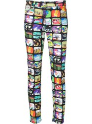 Jeremy Scott Tv Print Jeggings Black