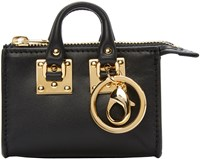 Sophie Hulme Black Holmes Coin Pouch