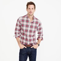 J.Crew Slim Oxford Shirt In Stewart Tartan