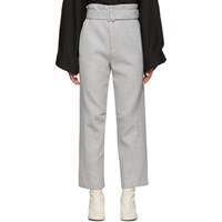 Maison Martin Margiela Mm6 Grey Belted Paperbag Trousers