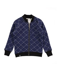 Molo Quilted Reversible Raglan Jacket Blue