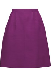 Oscar De La Renta Flared Woven Skirt Purple