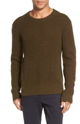 Vince Men's Chunky Wool And Cashmere Sweater Heather Fatigue