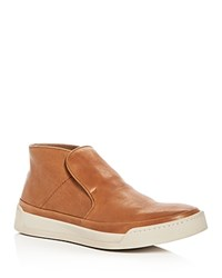 John Varvatos Star Usa Men's Remy Leather Slip On Sneakers Caramel