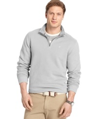 Izod Big And Tall Sueded Quarter Zip Pullover Light Grey Heather