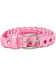 Marios Woven Buckle Belt Pink And Purple