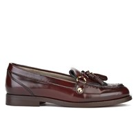H Shoes By Hudson Women's Britta Hi Shine Tassle Loafers Bordo Burgundy