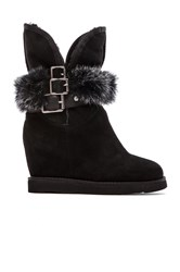 Australia Luxe Collective Hatchet Wedge Boot Black
