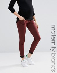 Mama Licious Mamalicious Over The Bump Skinny Jeans Grey Brown