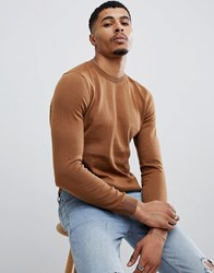 New Look Jumper With Crew Neck In Tan