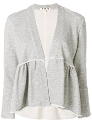 Amo Ruffled Jacket Grey