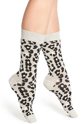 Happy Socks Women's 'Leopard' Crew Heather Grey