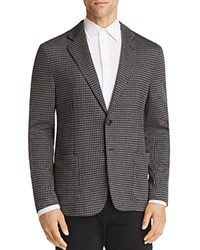Emporio Armani Houndstooth Pattern Regular Fit Sport Coat Gray