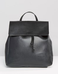 Pieces Simple Foldover Backpack Black