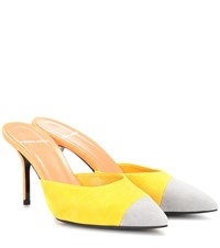 Pierre Hardy Colour Blocked Leather Mules Yellow