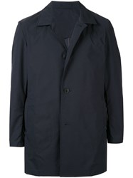 Kent And Curwen Packable Mac Coat Blue