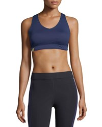Monreal London Essential V Neck Sports Bra Indigo
