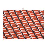 Orla Kiely Dachshund Tea Towel Set Of 2 Persimmon