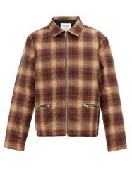 Noon Goons Anderson Checked Flannel Jacket Brown