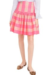 J.Crew Women's Neon Buffalo Check Taffeta Skirt