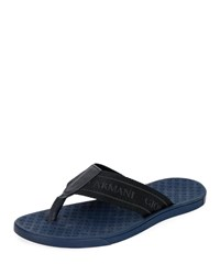 Giorgio Armani Nylon Web Thong Sandals Blue