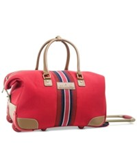 Tommy Hilfiger Freeport Rolling City Bag Only At Macy's Red