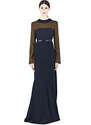 Marni Long Crepe Dress Brown