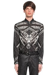Just Cavalli Modern Deco Printed Cotton Voile Shirt