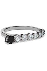Melissa Kaye Aria 18 Karat Blackened White Gold Diamond Ring 7