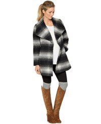 A Pea In The Pod Maternity Plaid Shawl Coat