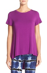 Hard Tail Open Back Crewneck Tee Orchid