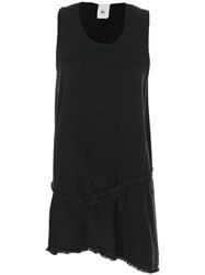Lost And Found Rooms Asymmetric Tunic Top Women Tencel S Black