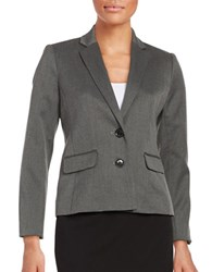 Ellen Tracy Knit Two Button Blazer Grey